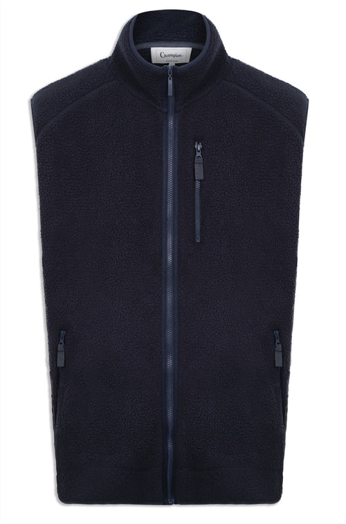 Champion Petworth Sherpa Fleece Gilet | Navy