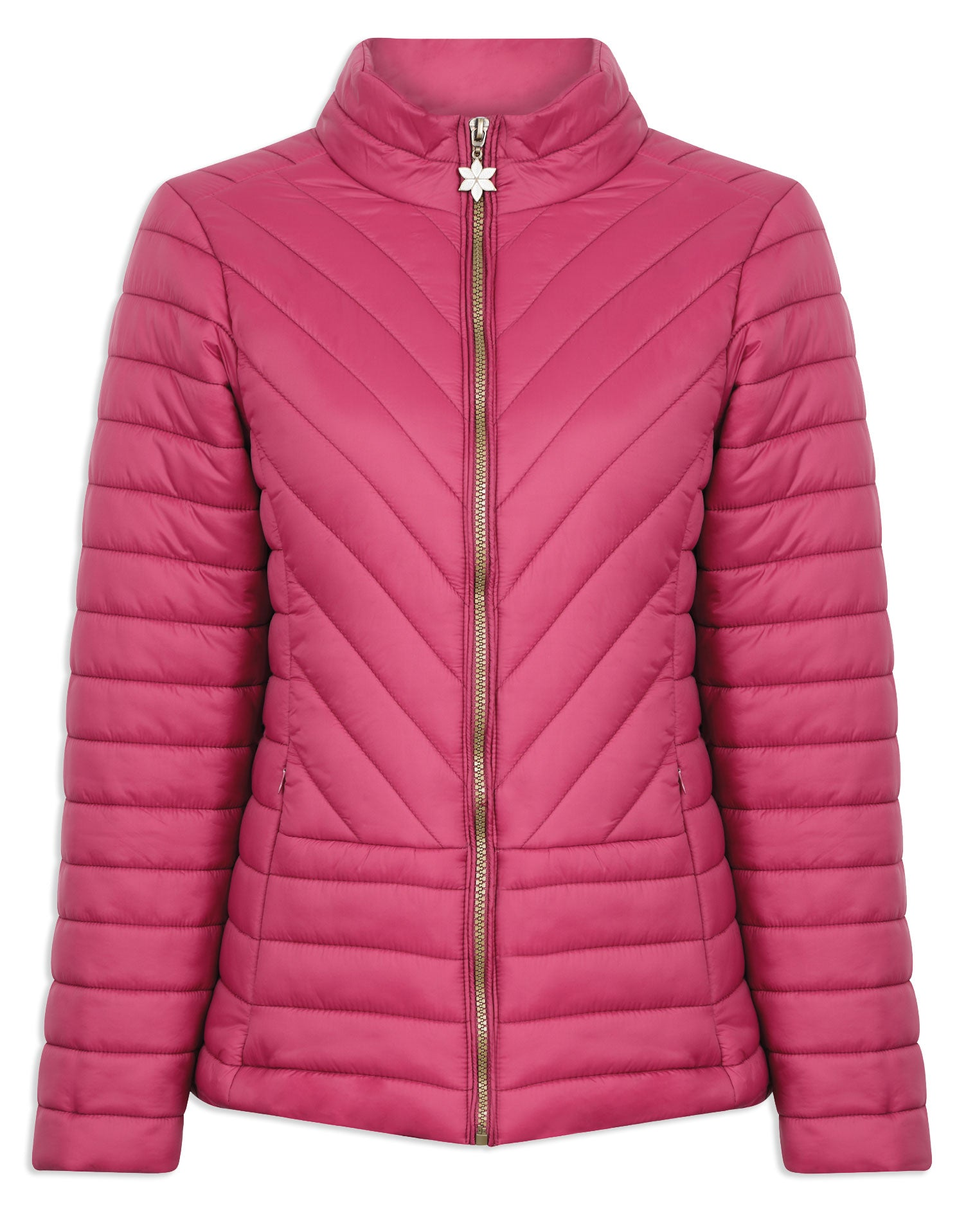 Raspberry Champion Frimley Baffle Quilted Jacket