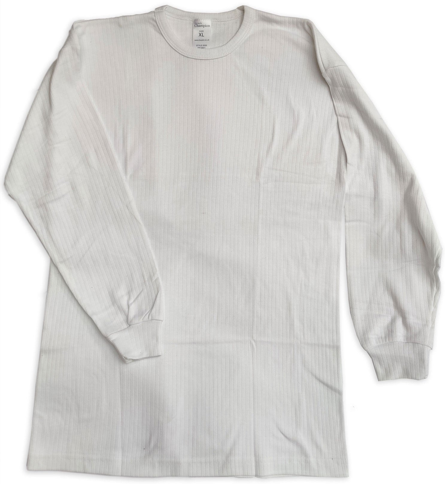 White Champion Long Sleeved Thermal Vest