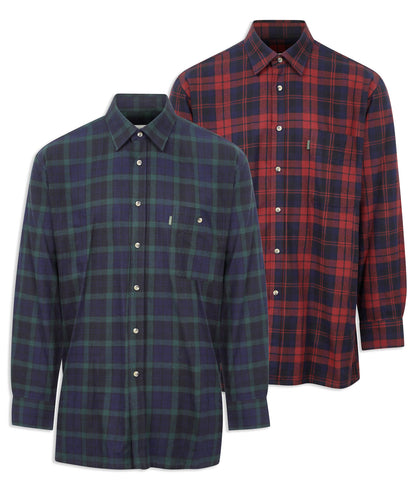 Champion Matlock Tartan Shirt in red navy and green