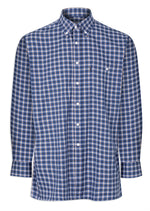 Champion Ashbourne Blue Check Long Sleeve Shirt