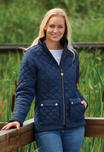 Lady wears Champion Wisley Quilted Jacket