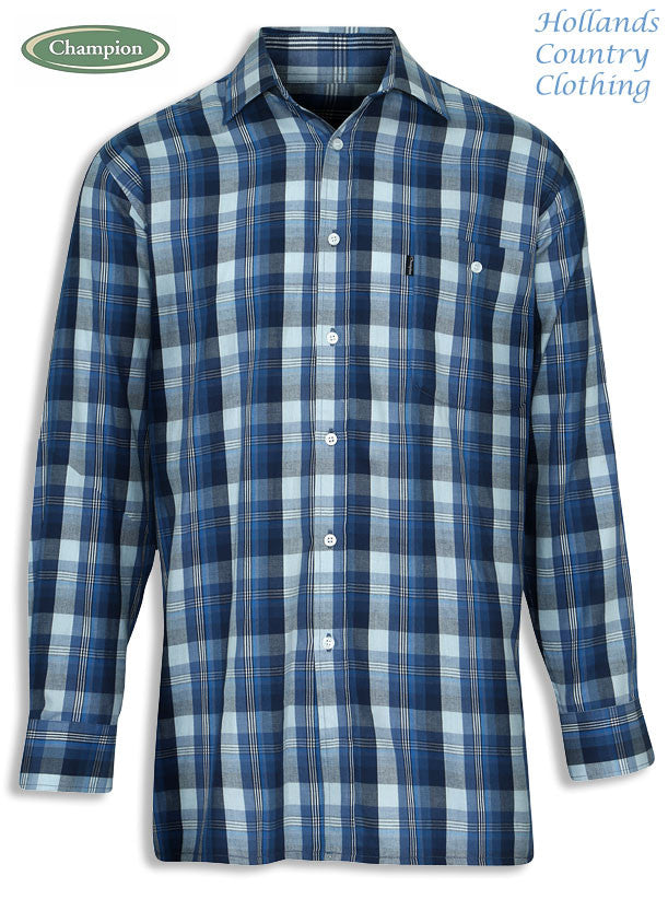 Chatham long sleeved shirt blue