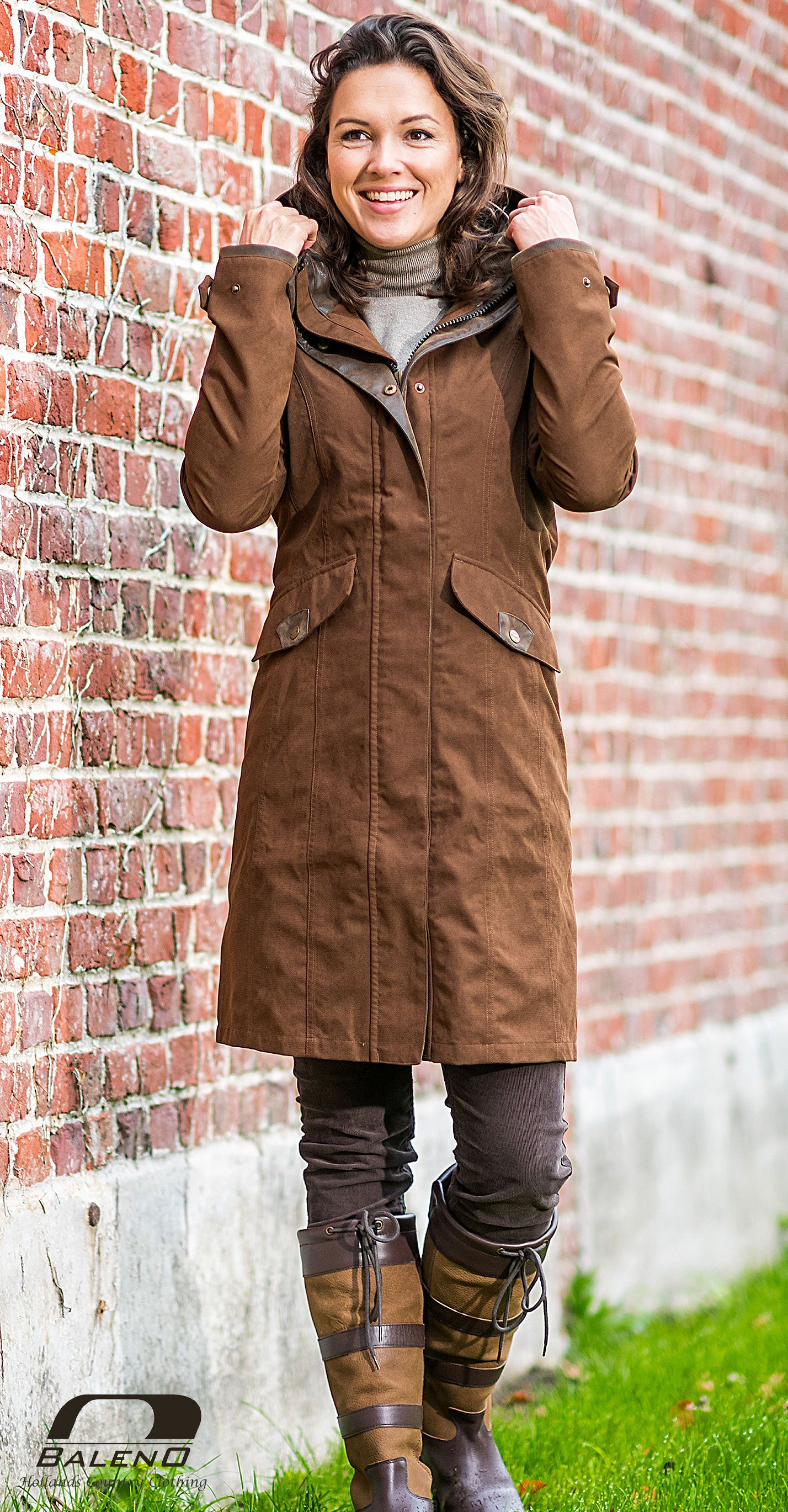 Terracotta Baleno Chelsea Mid Length Coat