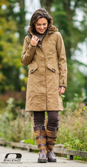 camel colour Chelsea 3/4 Length Waterproof Breathable Coat by Baleno