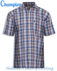 Red Champion Chester Short Sleeved Shirt summer country check shirt