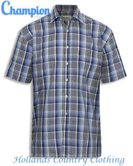 Blue Champion Chester Short Sleeved Shirt summer country check shirt