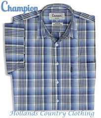 folded Champion Chester Short Sleeved Shirt summer country check shirt