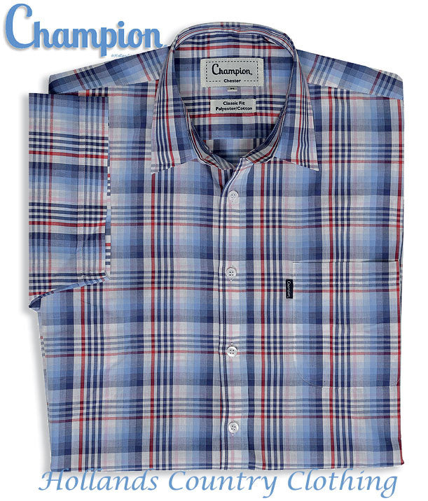 new version of chester short sleeved summer leisure shirt