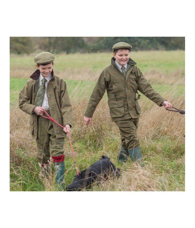 Children in full tweed outfits