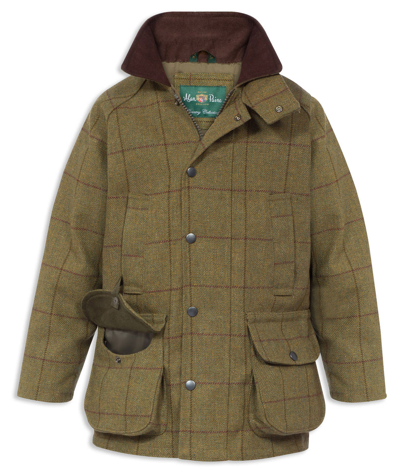 Alan Paine Rutland Kids Coat | Lichen Tweed