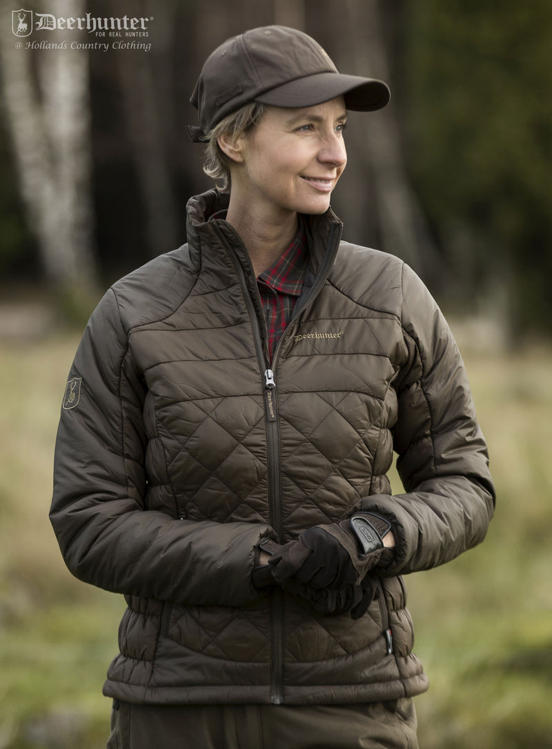 woman wearing Deerhunter Lady Christine Quilted Jacket