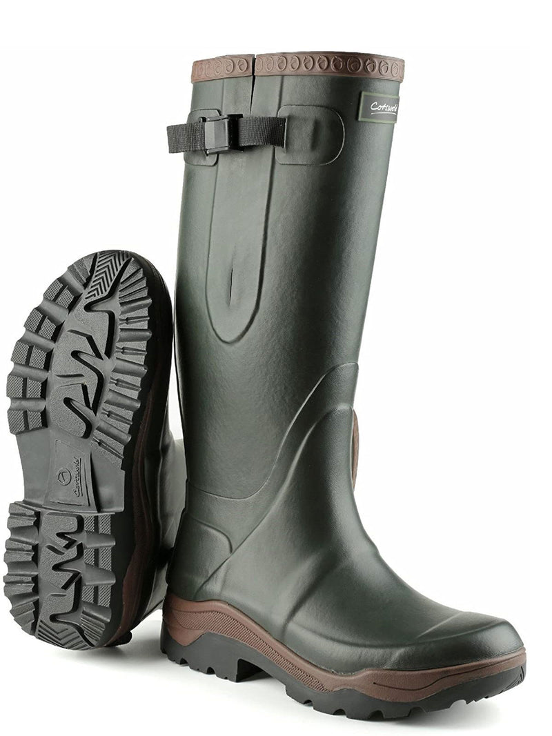 Cotswold Compass Neoprene Lined Rubber Wellington Boots