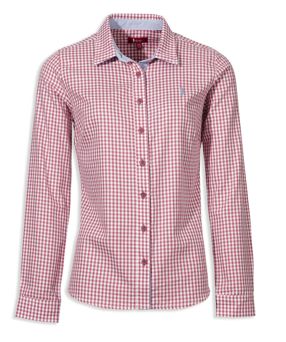 Jack Murphy Claire Shirt in Check Rosewater