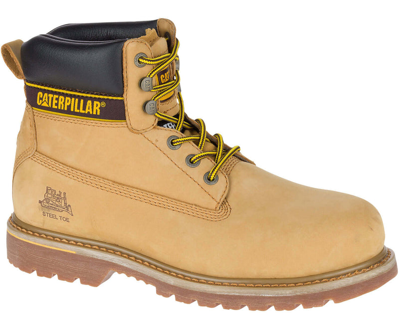 Gold Caterpillar Holton Leather Safety Boot