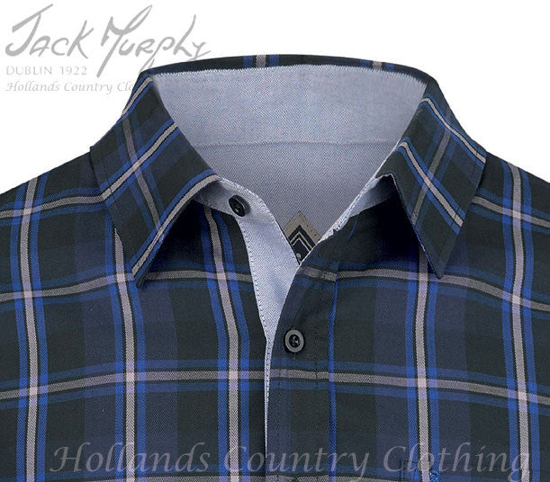 collar detail Jack Murphy Lorcan All Cotton Long Sleeve Shirt