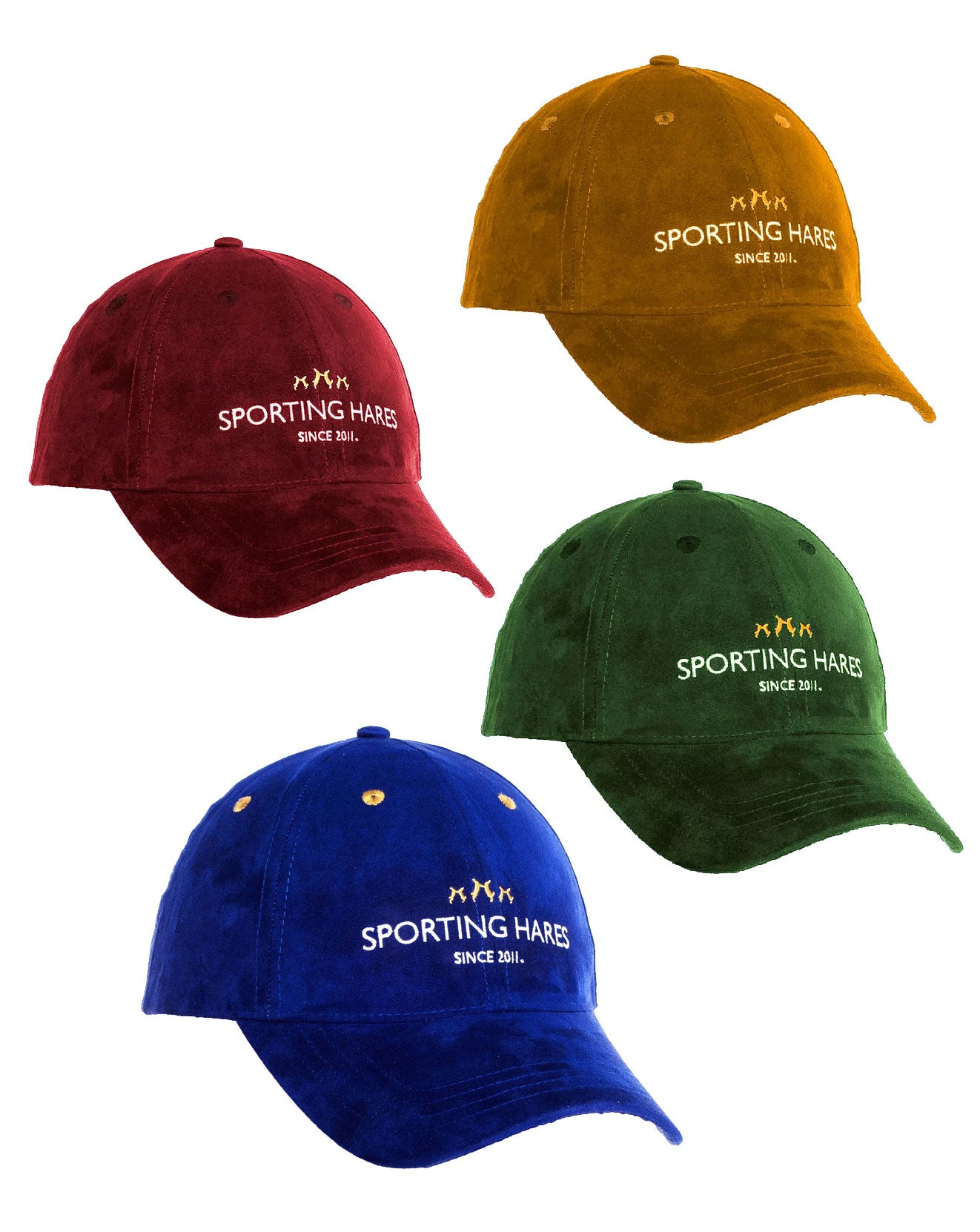 Sporting Hares Collection Hat | Colour: Navy, Honey Tan, Oxblood Red, Emerald Green