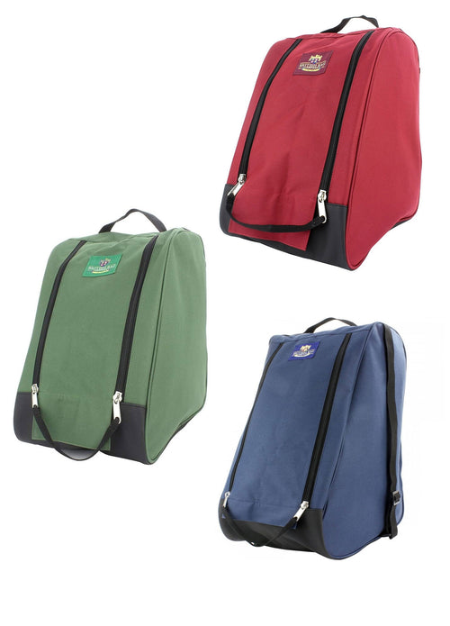 British Bag Co. Walking Boot Bag | Red Blue Green