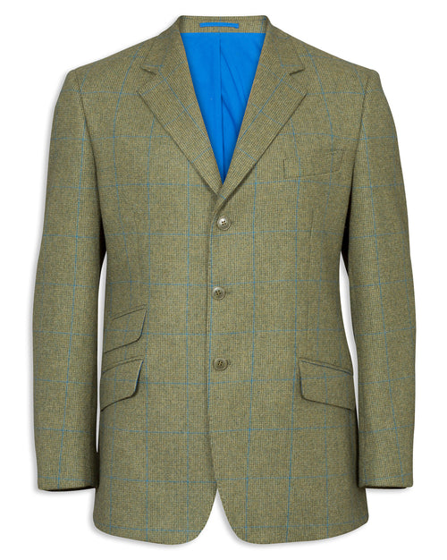 Alan Paine Combrook Men's Tweed Blazer | Lagoon
