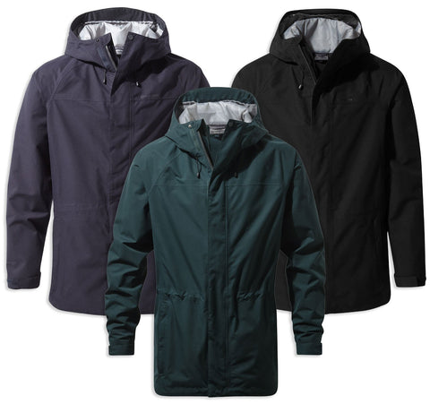Craghoppers Corran Gore-Tex Jacket | Dark Navy, Black and Mountain Green