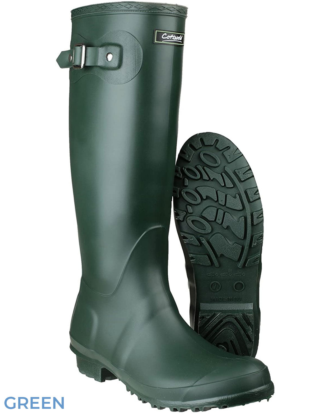 Sole and front Cotswold Sandringham Buckle Strap Wellingtons