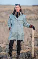Smoke Blue Jack Murphy Cotswold Ladies Waterproof  3/4 Coat