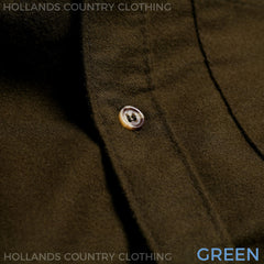 green Moleskin country shirt