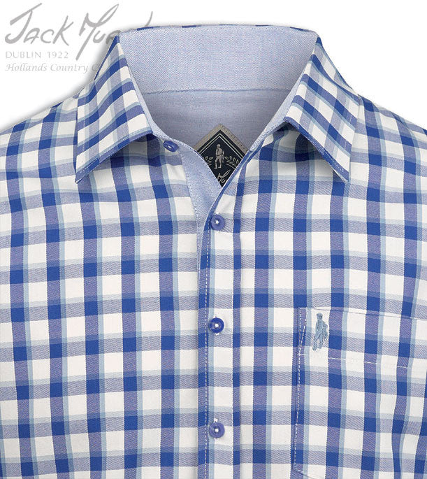 collar detail Jack Murphy Lorcan 100% Cotton Long Sleeve Shirt