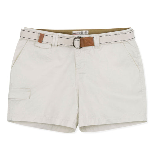 White Musto Ladies Tack Cotton Shorts