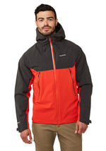 Trelawney Waterproof Breathable Jacket by Craghoppers Black and Red
