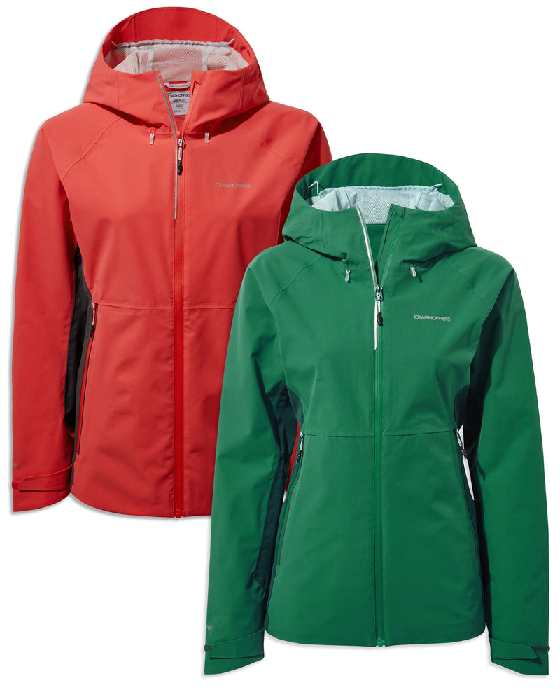 Craghoppers Haidon Waterproof Jacket | Verde, Rio Red