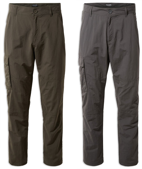 Craghoppers NosiLife Branco Trousers | Black Pepper, Woodland Green
