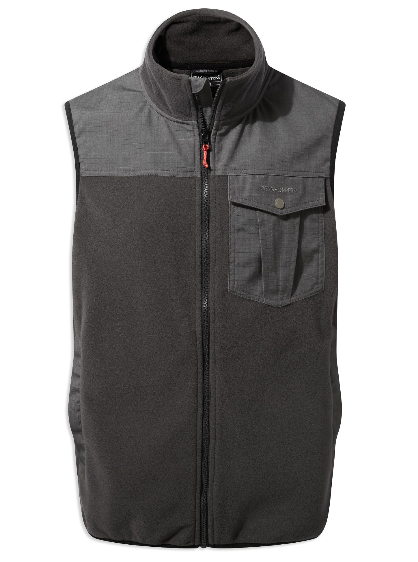 Craghoppers Dillon Micro Fleece Gilet vest Black Pepper