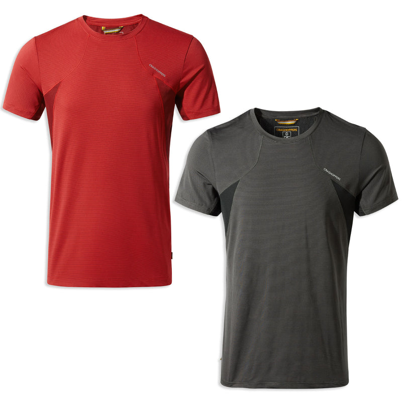 Craghoppers Fusion T-Shirt in Firth Red and Black Pepper