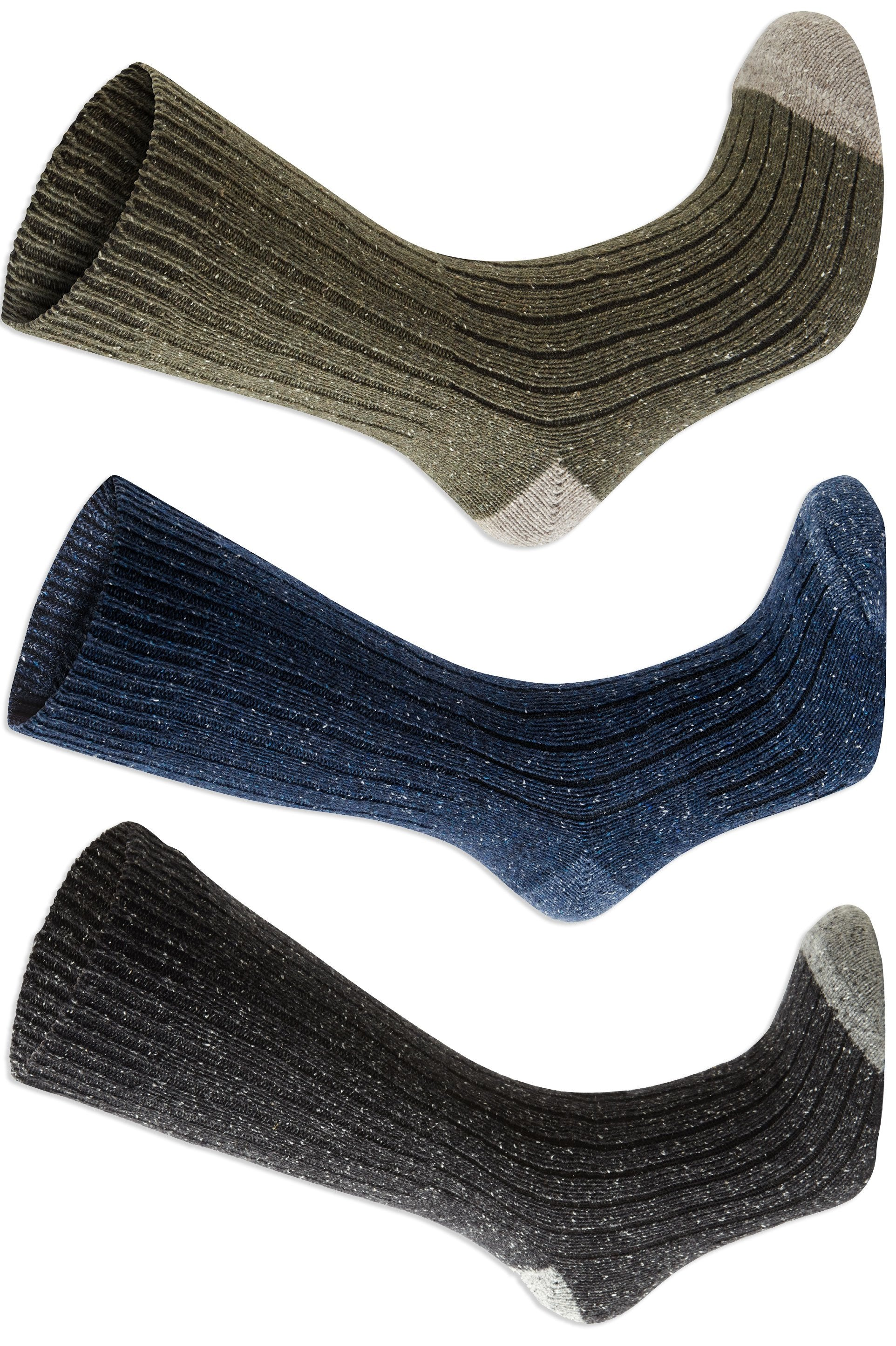 Craghoppers Glencoe Walking Socks | Moss, Blue Navy, Dark Grey