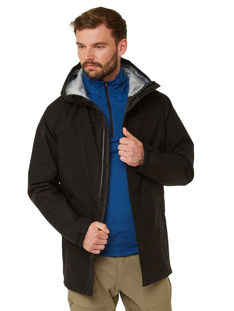 Unzipped Corran Gore-Tex Waterproof Jacket by Craghoppers in Black