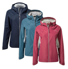 Craghoppers Horizon Ladies Waterproof Jacket | Venetian Teal , Amalfi Rose, Blue Navy