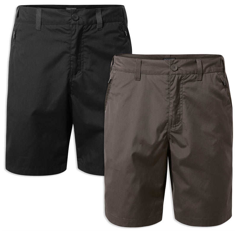 Craghoppers Kiwi Shorts | Black, Bark