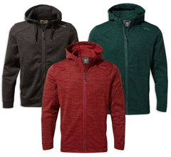 Craghoppers Strata Hoodie | Firth Red, Black, Mountain Green