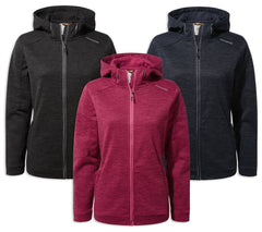 Craghoppers Ladies Strata Hoodie | Blue Navy, Black Pepper, Vivacious Pink