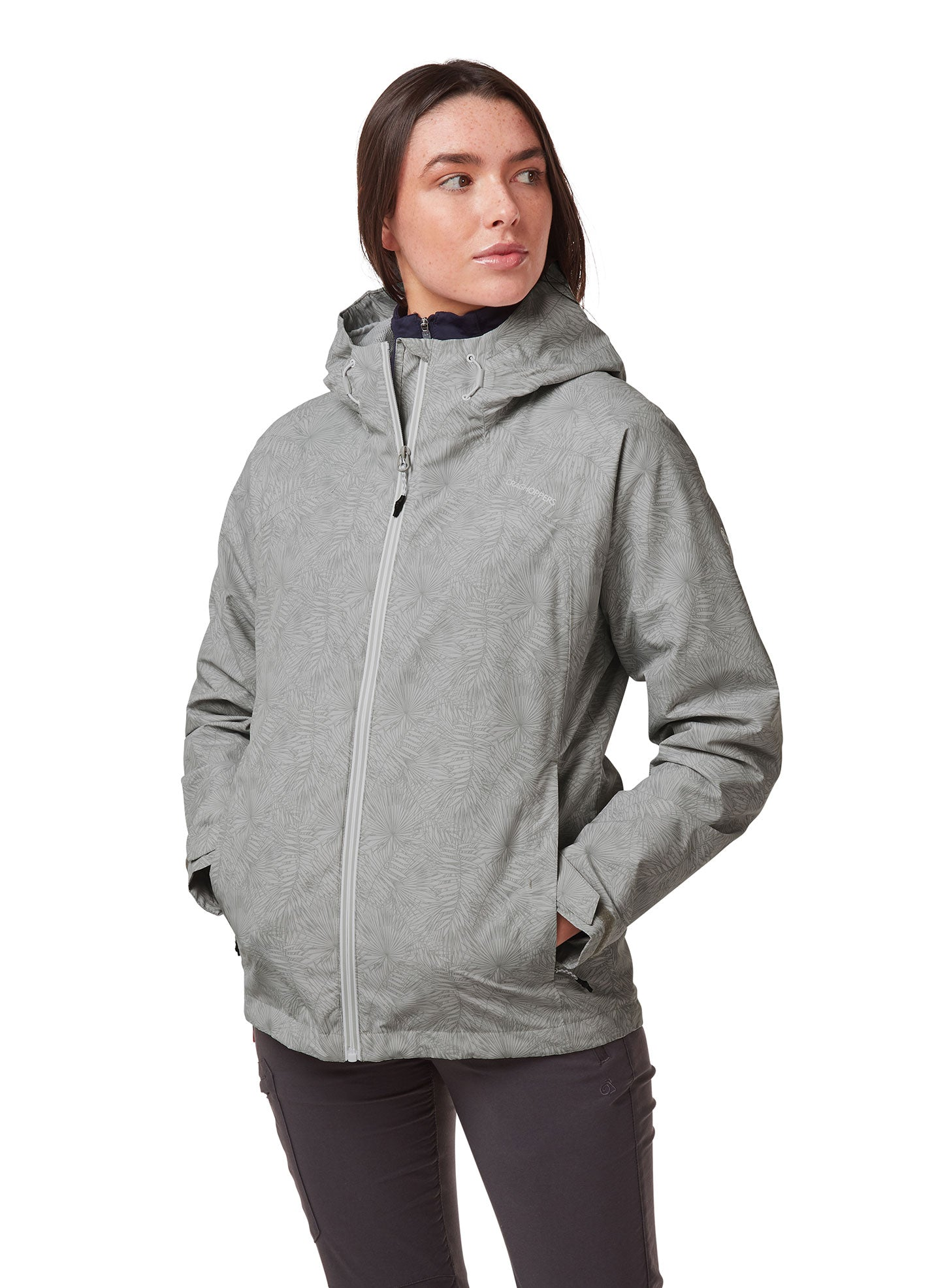 Dove Grey print Toscana Ladies Jacket by Craghoppers