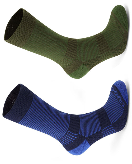 Craghoppers Heat Regulating Travel Sock | Bright Blue, Spiced Lime