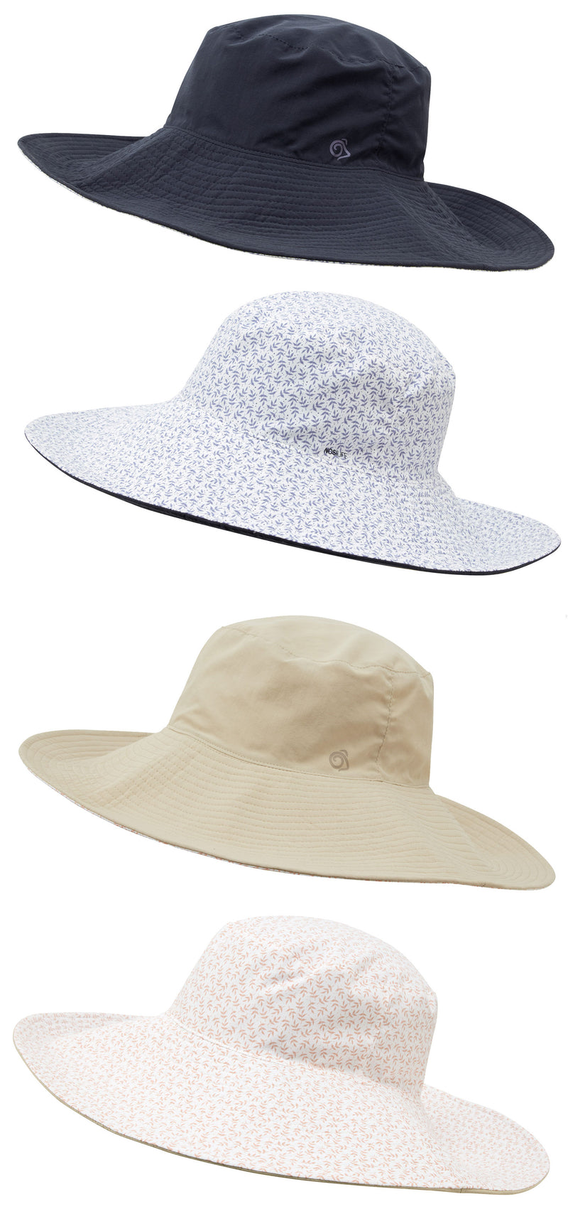 Craghoppers NosiLife Pria Ladies Sun Hat | Navy Blue, Desert Sand