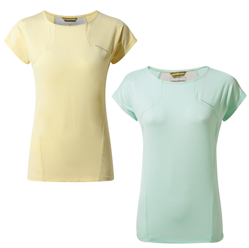 Craghoppers Fusion T-Shirt | Buttercup Yellow, Capri Blue