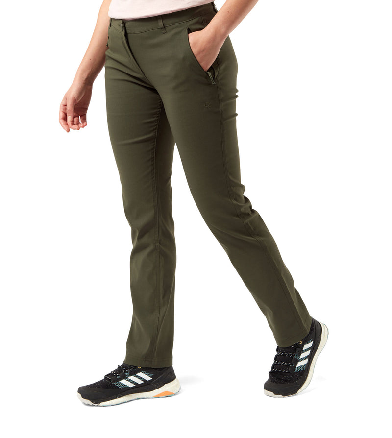 Khaki Green Ladies Kiwi Pro II Trousers by Craghoppers