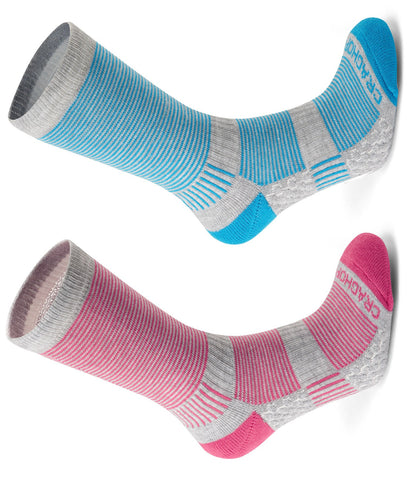 Craghoppers Ladies Heat Regulating Travel Sock | Aegean Blue / Dove Grey Green, Electric Pink / Dove Grey