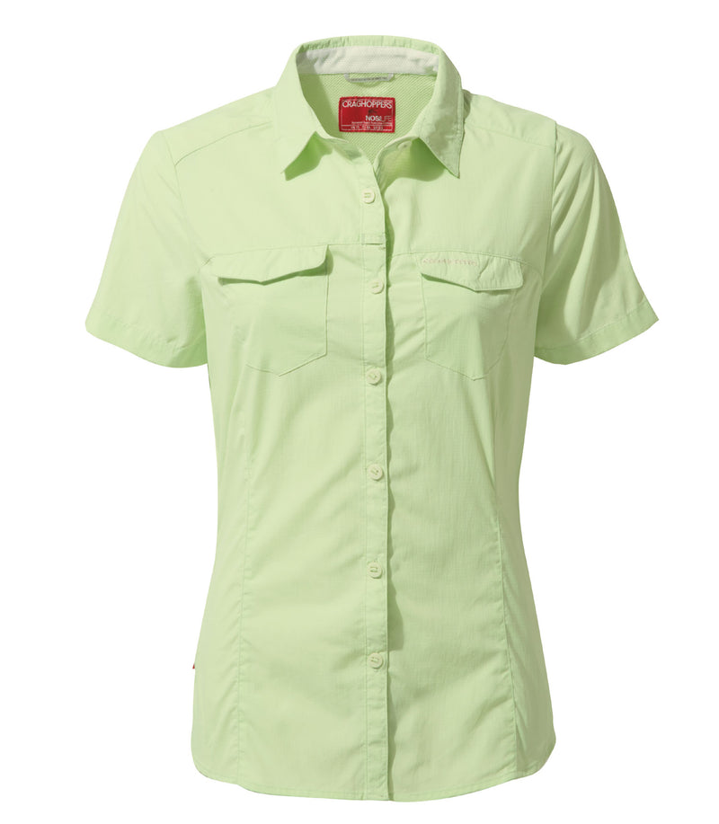 Pistachio Craghoppers NosiLife Adventure Ladies Short Sleeved Shirt