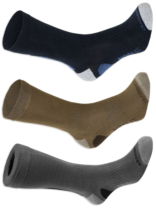 Craghoppers NosiLife Adventure Socks | Navy, Kanagaroo, Grey