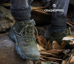 Craghopper trekking boot on the trail