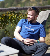 relaxing in the sun in Nelson T-Shirt by Craghoppers
